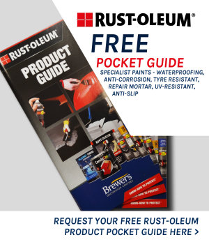 Customers can click on this to go through to a Hubspot landing page to request a free Rustoleum product pocket guide