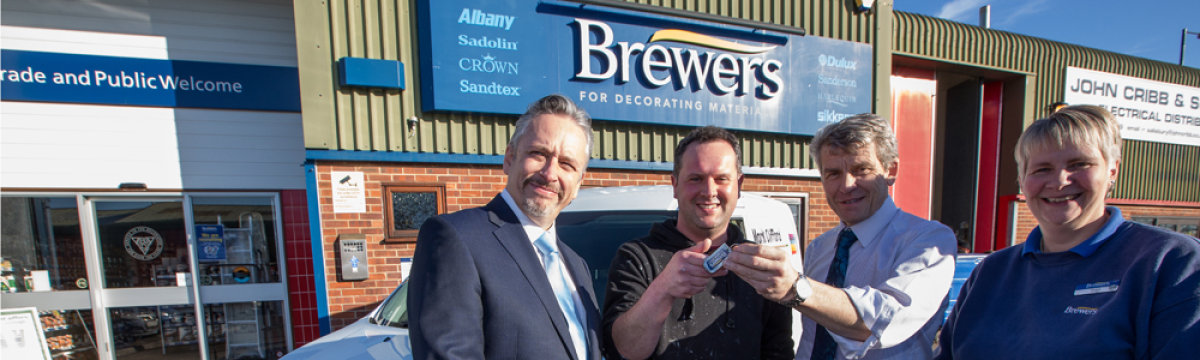 Brewers van competition winner takes to the road