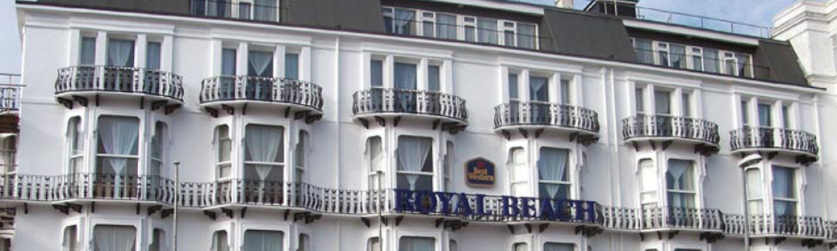 Royal Beach Hotel's crowning facade