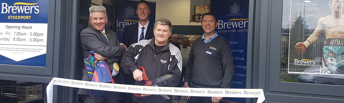 Ricky Hatton Opens Brewers Stockport
