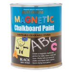 Chalkboard Magnetic Paint Black Matt