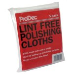 Lint Free Polishing Cloths Pack of 5