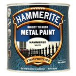 Direct to Rust Metal Paint Hammered White