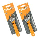 2 X Soft Grip Adjustable Wrench