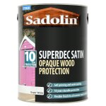 Superdec Opaque Wood Protection Satin Super White