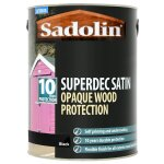Superdec Opaque Wood Protection Satin Black (Ready Mixed)