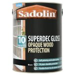 Superdec Opaque Wood Protection Gloss Black (Ready Mixed)