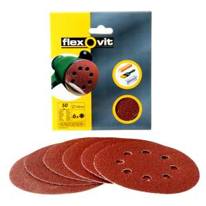 Hook and Loop Detail Sanding Discs (Pack of 6)