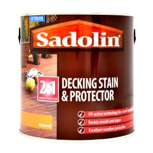 Decking Stain and Protector Satin Golden Brown