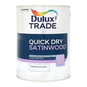 Dulux Trade Pure Brilliant White Satinwood Paint