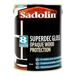 Superdec Opaque Wood Protection Gloss Black