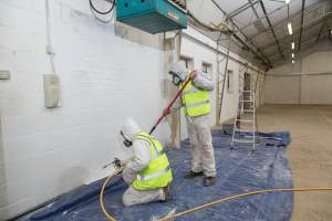 Spray painting can allow you to complete multiple jobs in a day.
