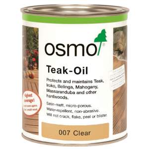 Decking Oil Satin 007 Teak Oil Clear