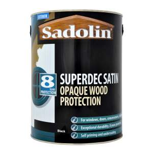 Superdec Opaque Wood Protection Satin Black