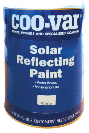 Solar Reflective Paint reflect sunlight from the substrate.