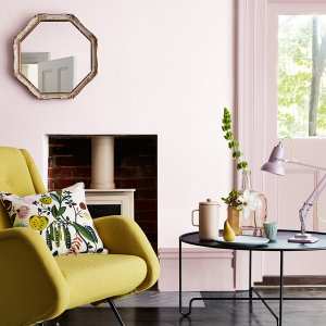 The Little Greene pink collection brings a warming tone to any room.