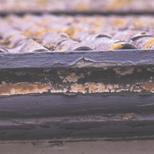 The slightest defect in the substrate or construction can let water in.