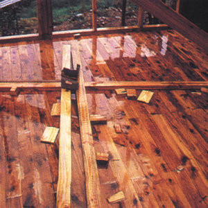 Wood on building sites will absorb moisture when exposed to the elements.
