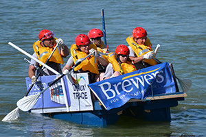 24 rafts competed in this years Lewes to Newhaven Raft Race