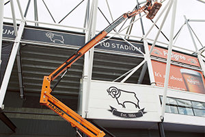 Highly Commended status for Whittle Programmed Painting's work at Derby County Football Club