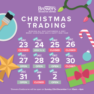 More about Christmas Trading Hours at Brewers
