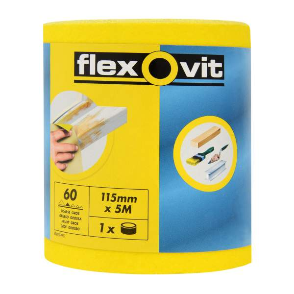 Aluminium Oxide Yellow 115mm x 5m
