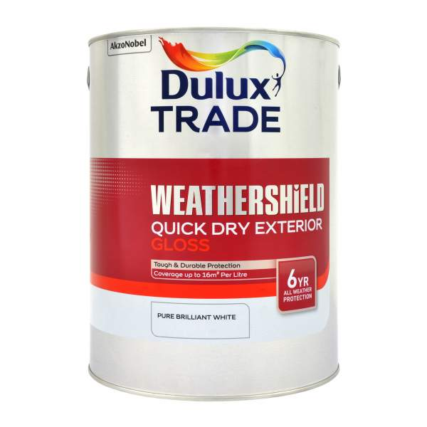 Weathershield Exterior Quick Drying Gloss Pure Brilliant White