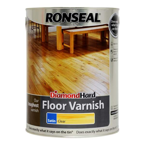 Diamond Hard Floor Varnish Satin Clear