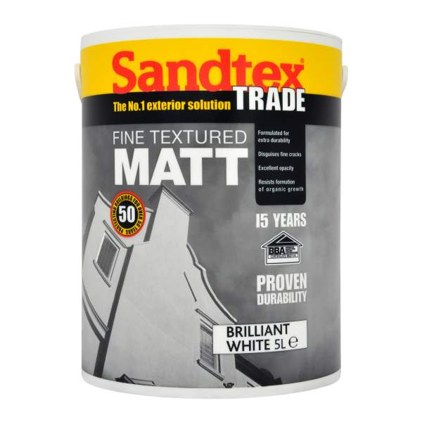 Sandtex Trade Fine Textured Matt Black 5L