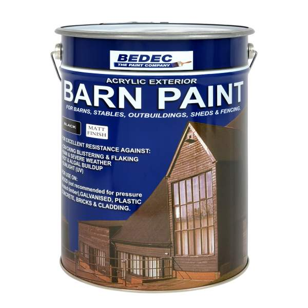 Bedec barn paint satin white 20l - Exterior wood paint matt pict ...