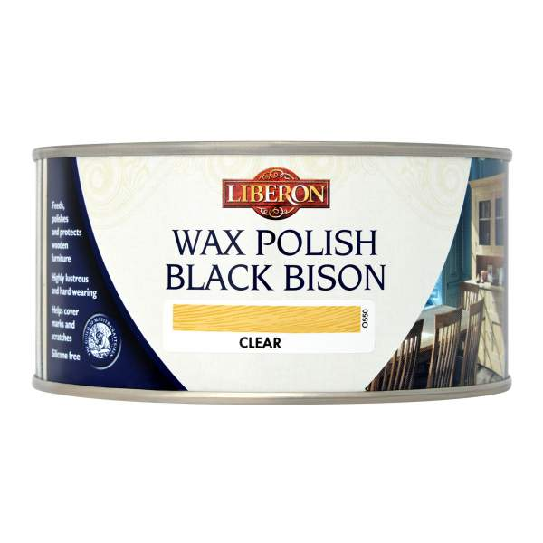 Black Bison Wax Paste Satin Clear