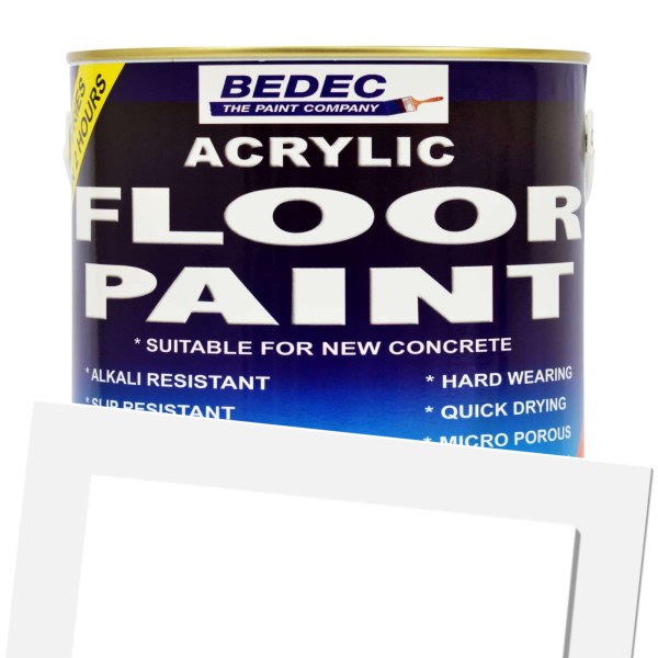 Bedec Acrylic Floor Paint Ready Mixed Battleship Grey 2 5l