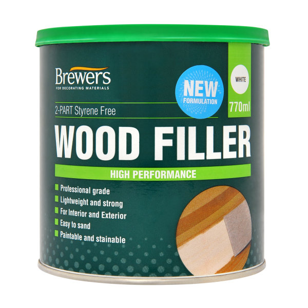 2-Part Styrene Free Wood Filler White