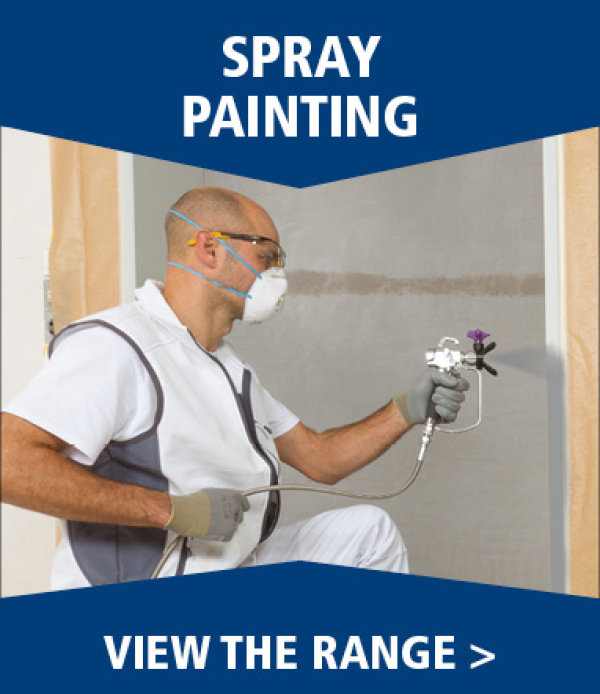 Spray painting at Brewers Decorator Centres
