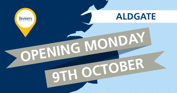 Brewers Aldgate opening Monday 9th October