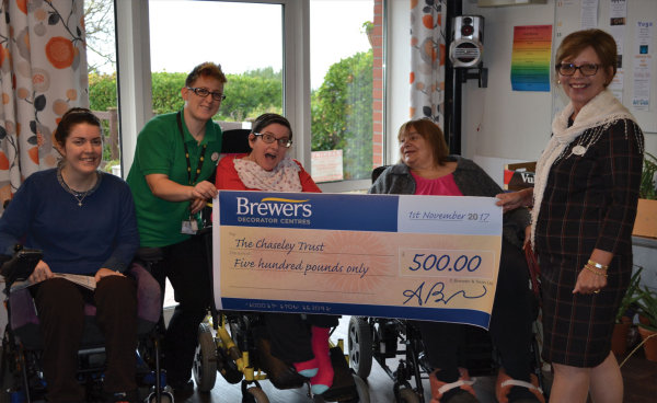 Brewers donated £500 to The Chaseley Trust
