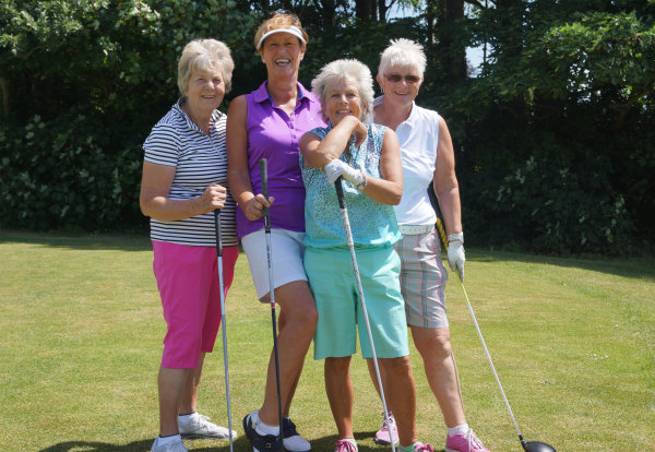 Group of ladies attending Charity Golf Day raising money for Chesnut Tree House