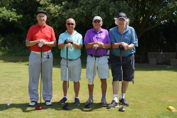 Group of men attending Charity Golf Day raising money for Chesnut Tree House