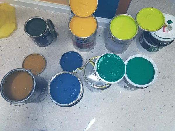 Selection of paint donated by Brewers Eastbourne