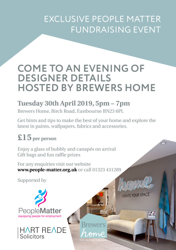 Designer Details event hosted at Brewers Home, Eastbourne