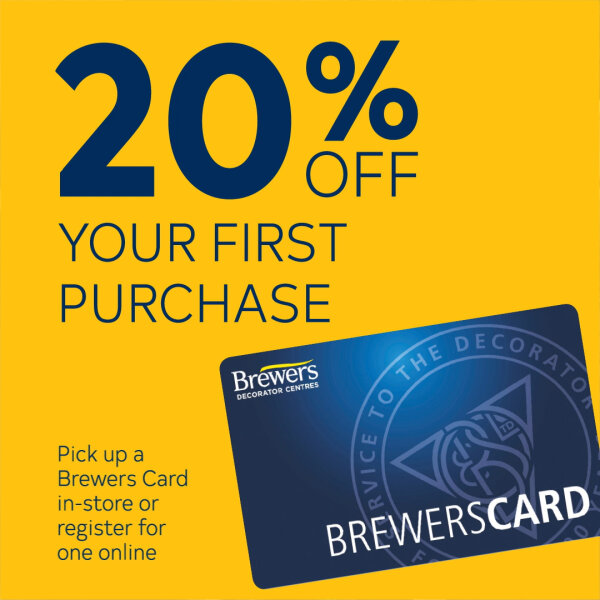 Get 20% off your first purchase when you pick up a Brewers Card