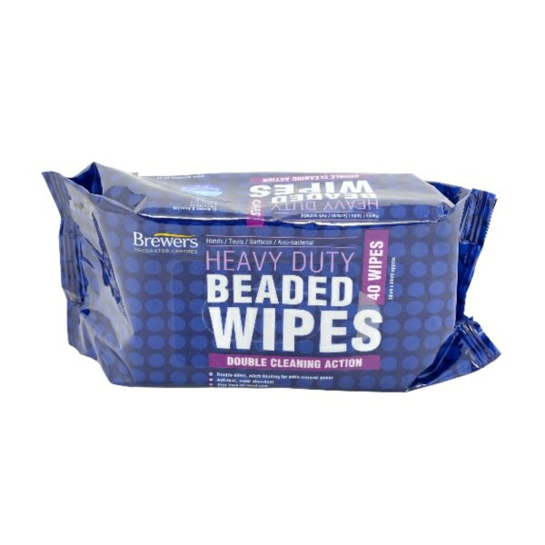 Heavy Duty Beaded Wipes Pack of 40