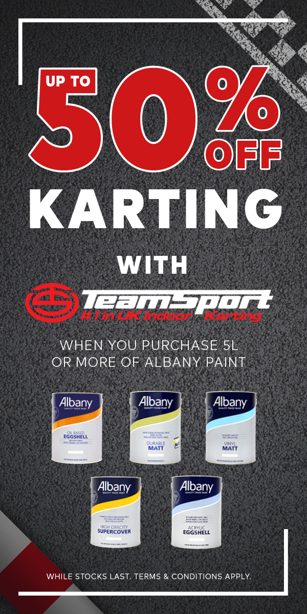 Up to 50% off karting with Teamsport Karting